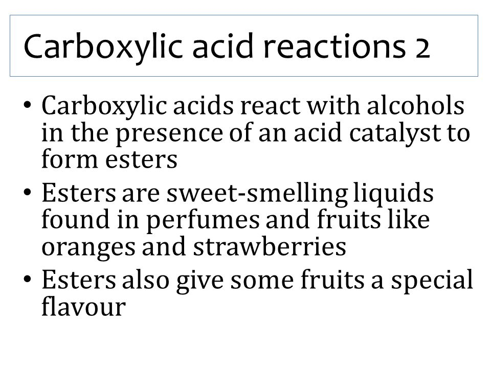 Carboxylic acid reactions 2