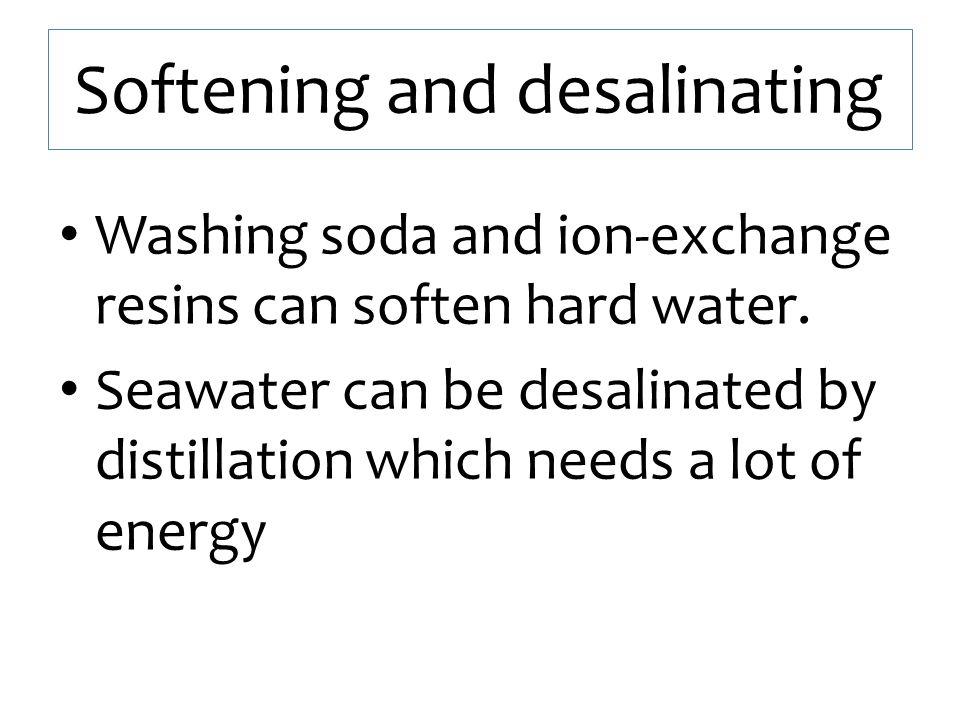 Softening and desalinating
