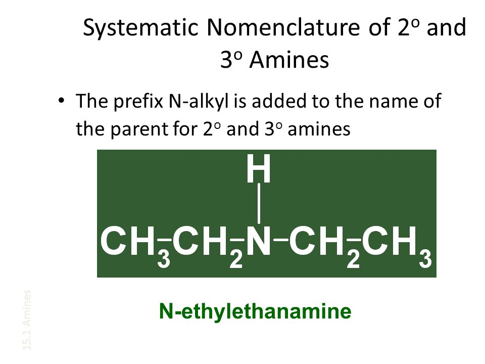 Systematic Nomenclature of 2o and 3o Amines