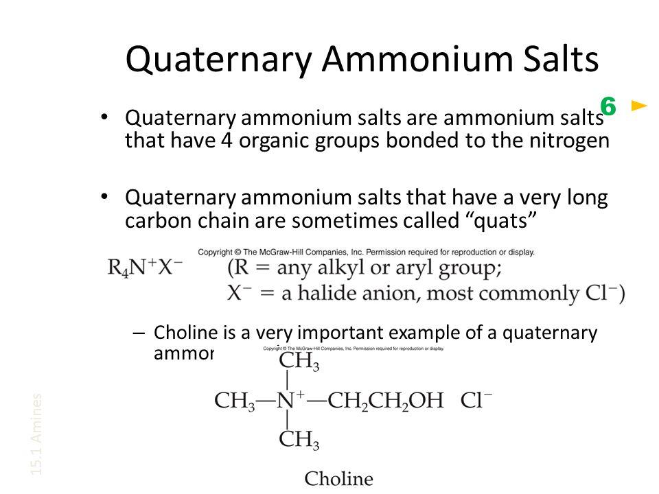 Quaternary Ammonium Salts