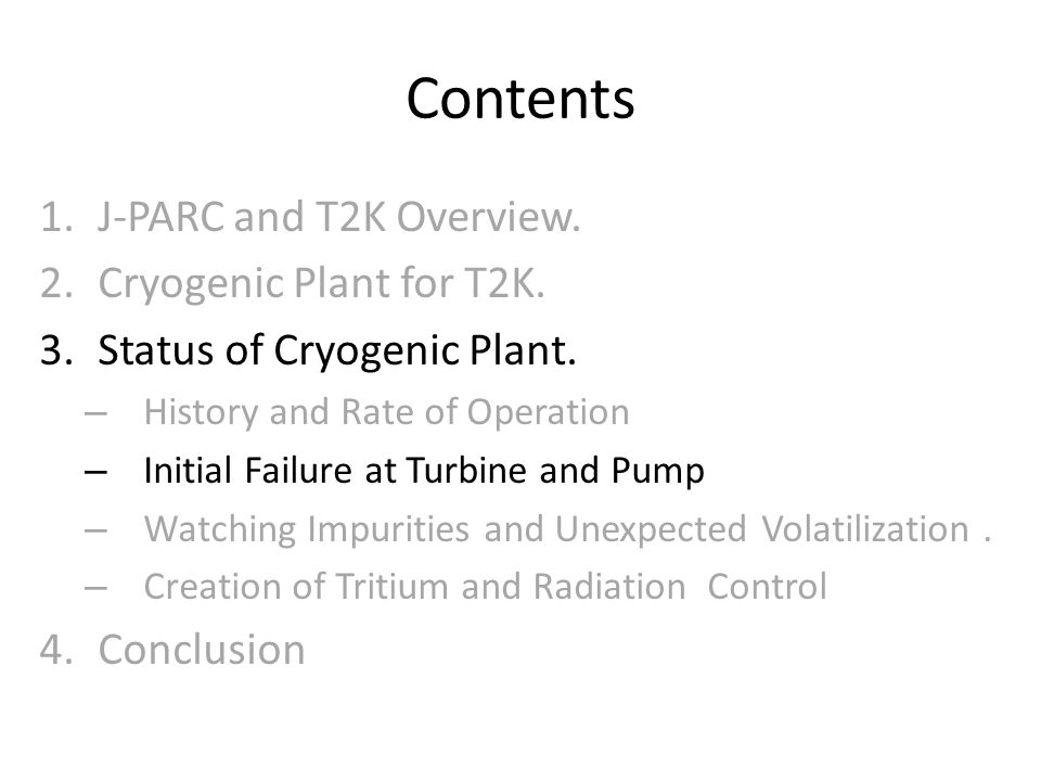 Contents J-PARC and T2K Overview. Cryogenic Plant for T2K.