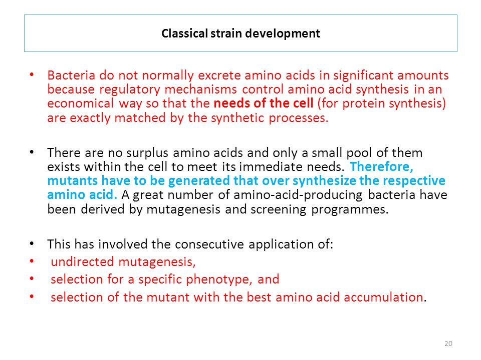 Classical strain development