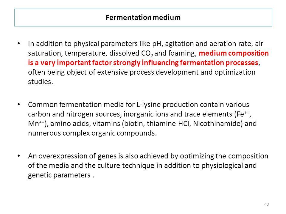 Fermentation medium