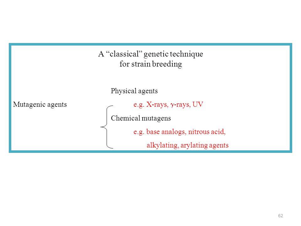 A classical genetic technique