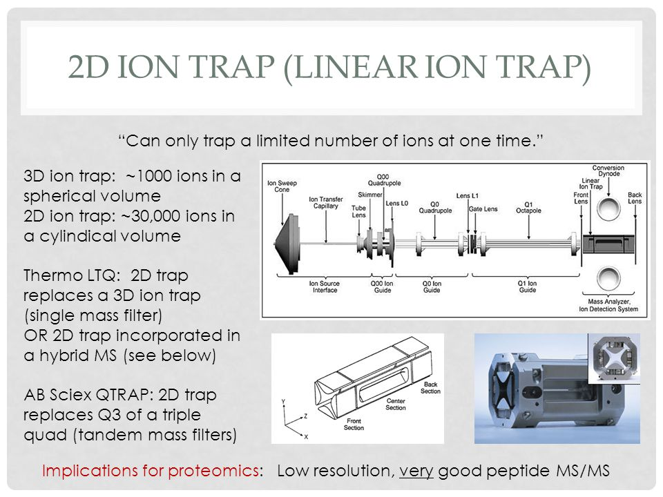2D ion trap (linear ion trap)