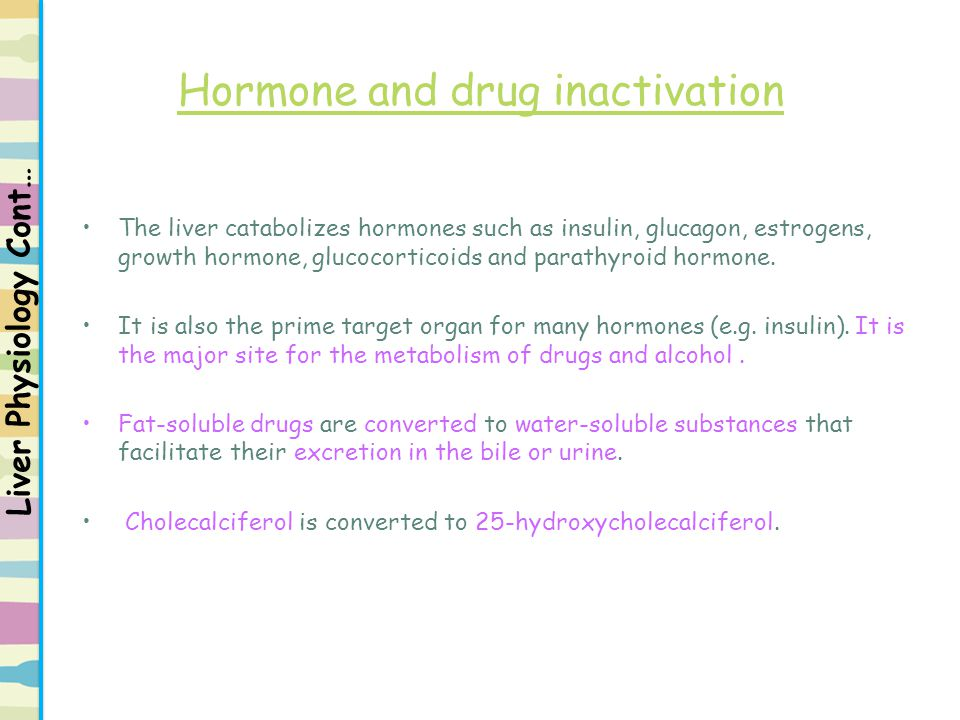 Hormone and drug inactivation