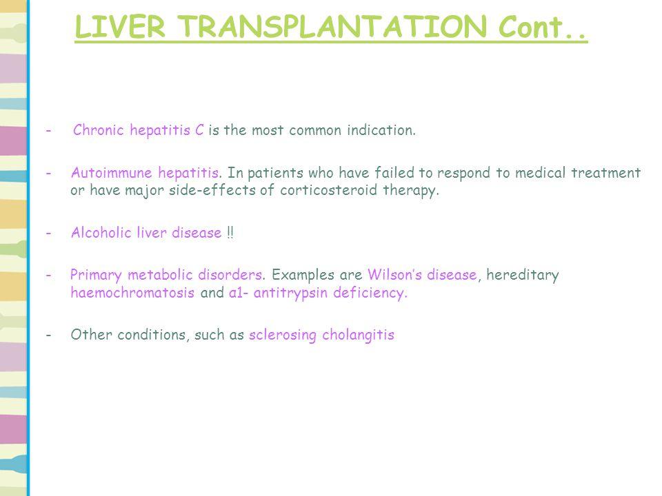 LIVER TRANSPLANTATION Cont..