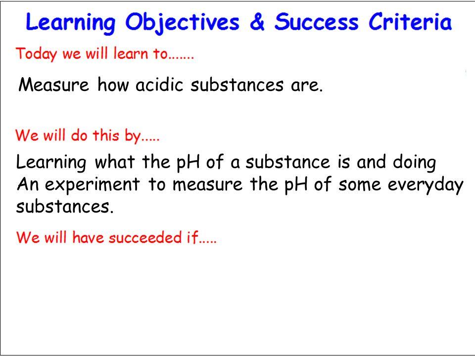 Measure how acidic substances are.