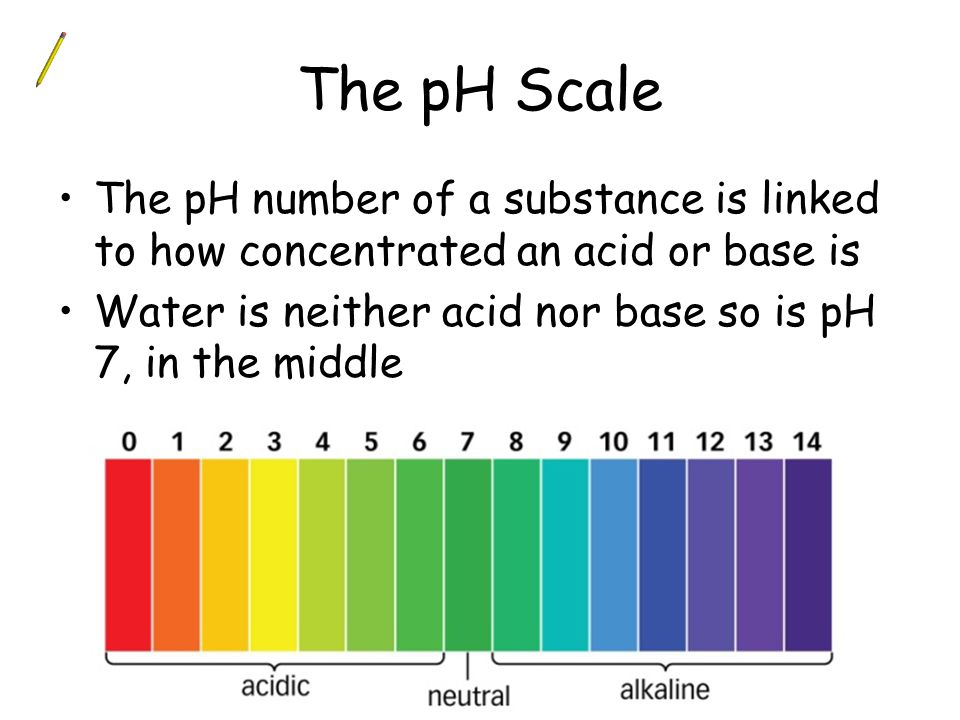 The pH Scale The pH number of a substance is linked to how concentrated an acid or base is.