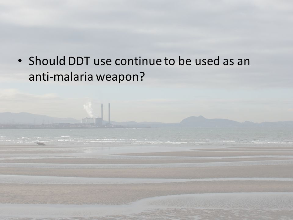 Should DDT use continue to be used as an anti-malaria weapon