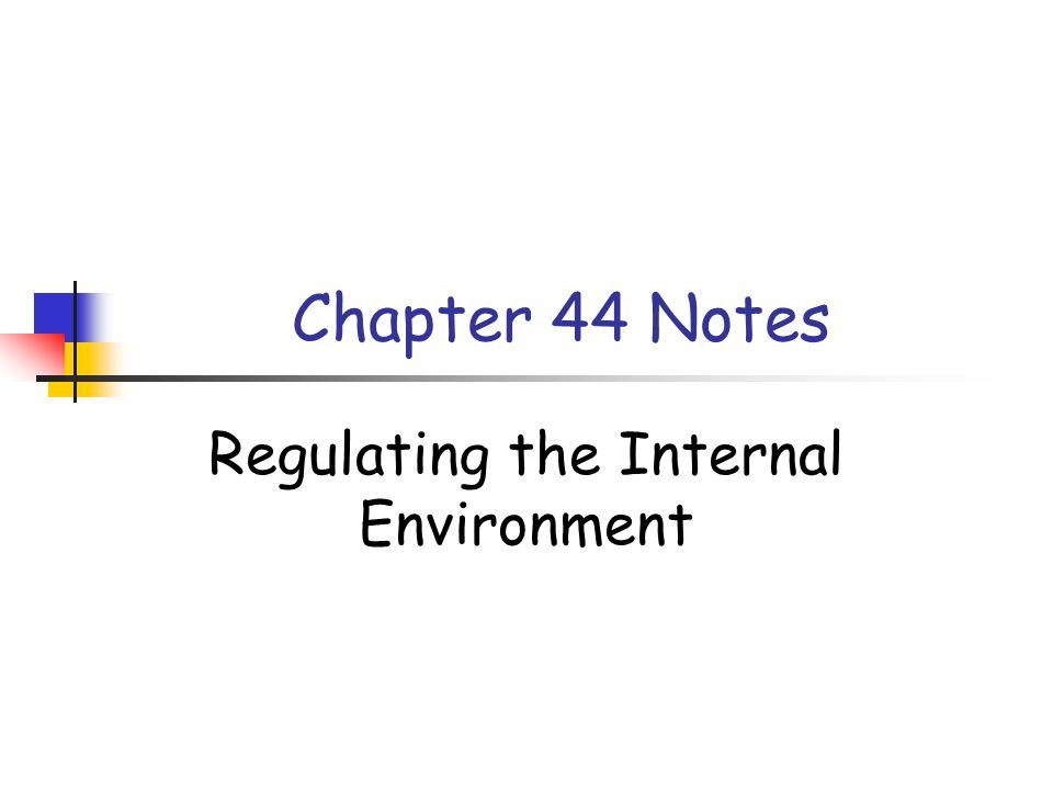 Regulating the Internal Environment
