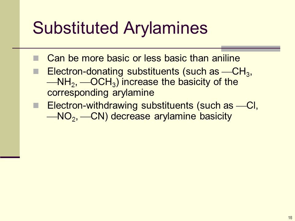 Substituted Arylamines