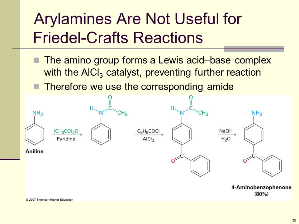 Arylamines Are Not Useful for Friedel-Crafts Reactions