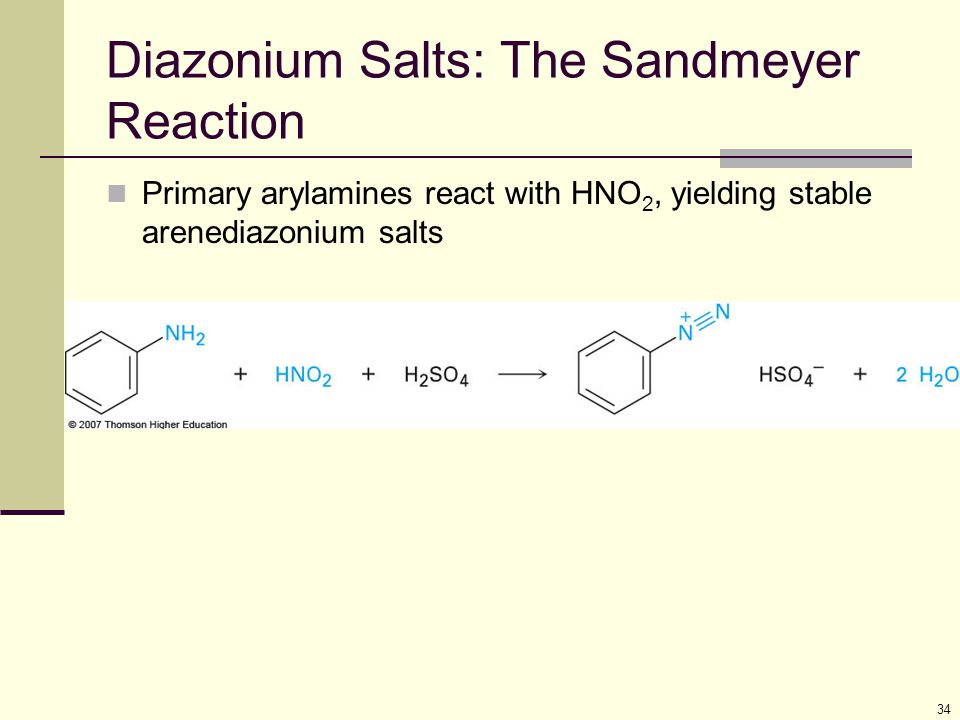 Diazonium Salts: The Sandmeyer Reaction