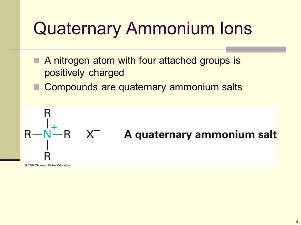 Quaternary Ammonium Ions