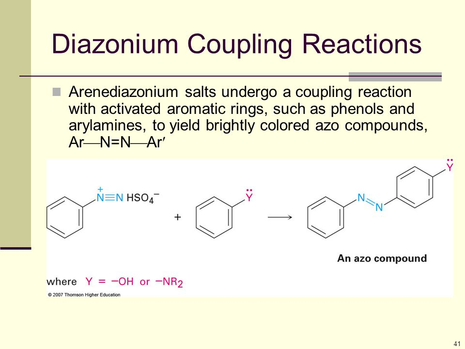 Diazonium Coupling Reactions