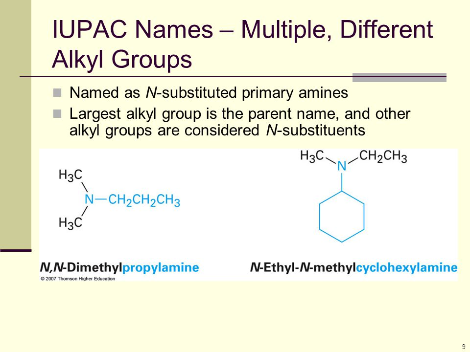 IUPAC Names – Multiple, Different Alkyl Groups