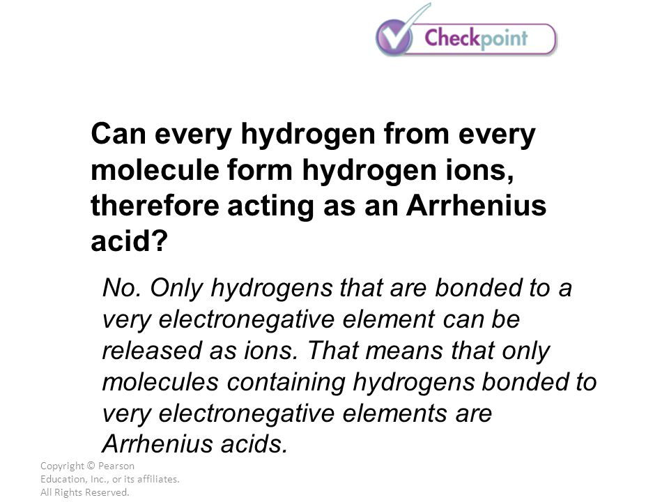 Can every hydrogen from every molecule form hydrogen ions, therefore acting as an Arrhenius acid