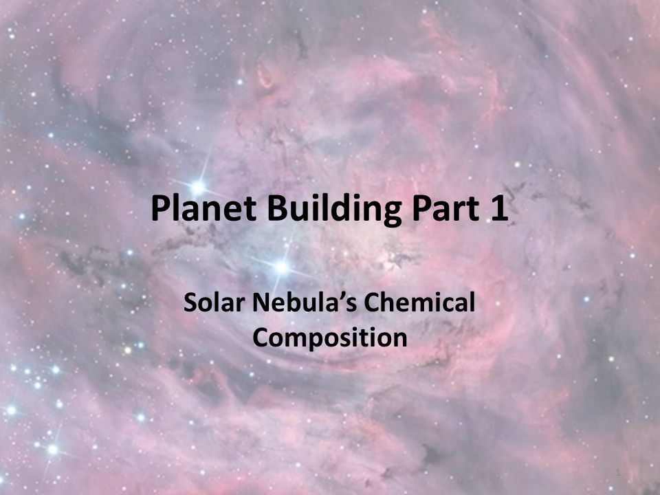 Solar Nebula's Chemical Composition