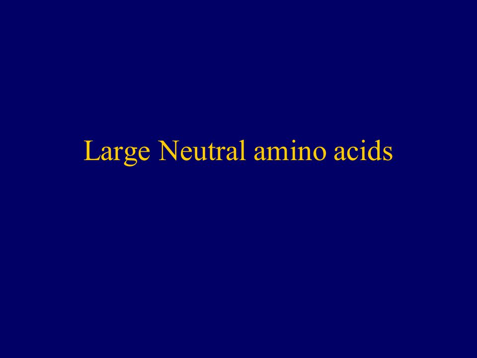 Large Neutral amino acids
