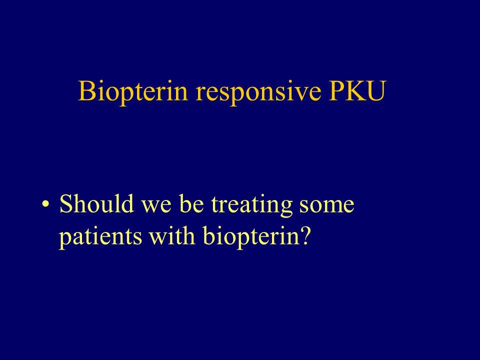 Biopterin responsive PKU
