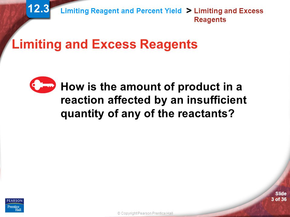Limiting and Excess Reagents