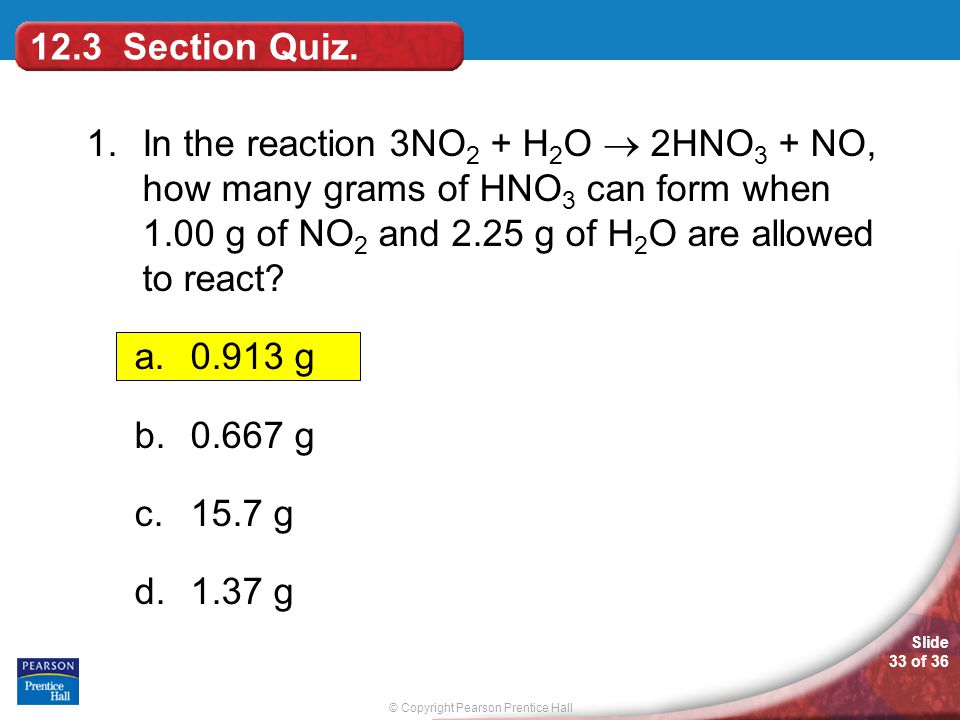 12.3 Section Quiz.