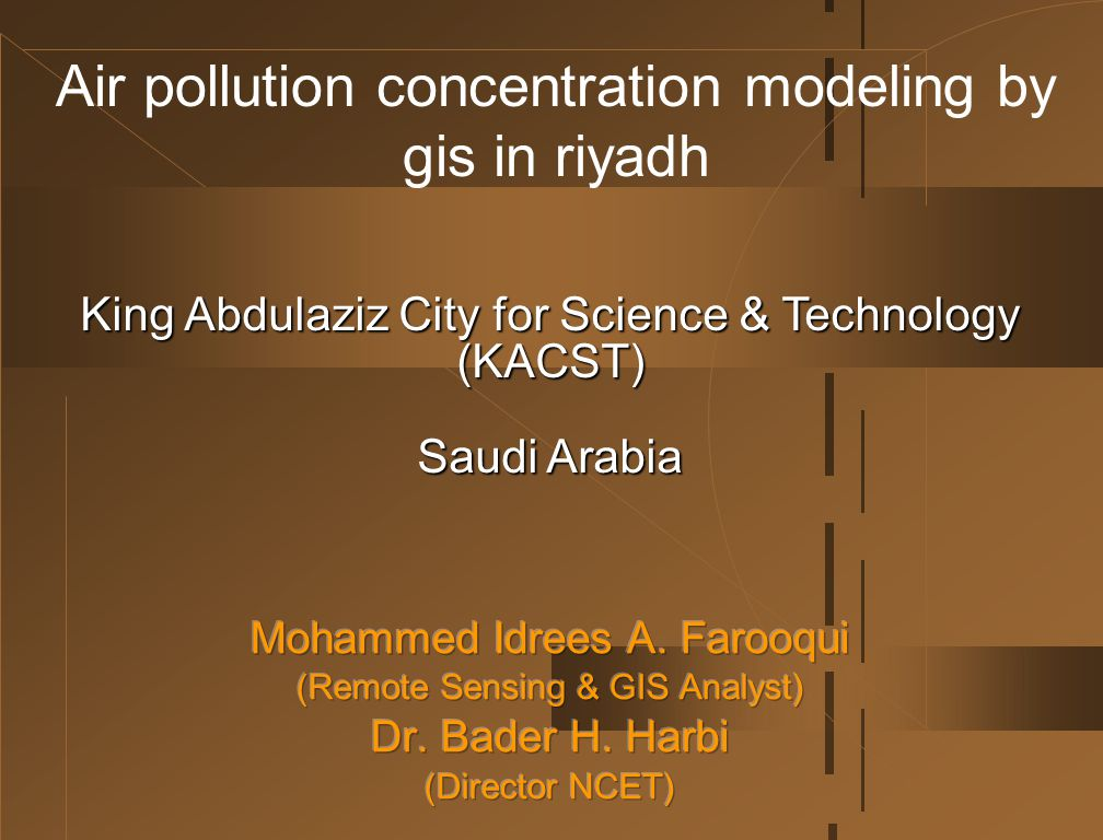 Air pollution concentration modeling by gis in riyadh