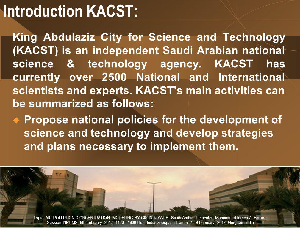 Introduction KACST:
