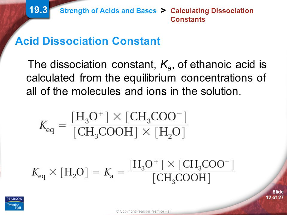 Calculating Dissociation Constants