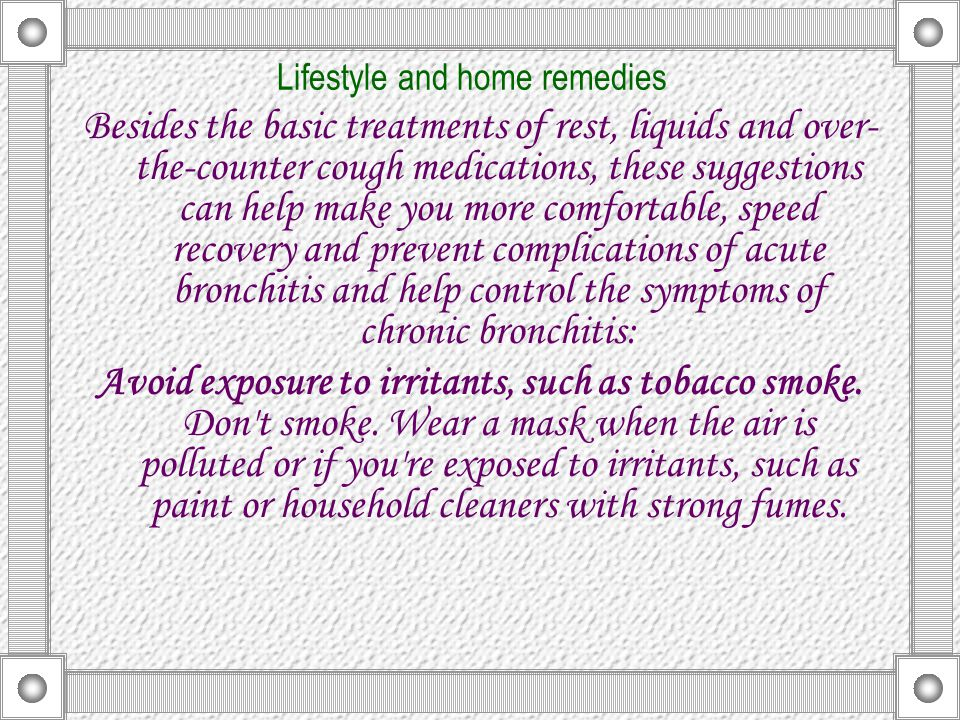 Lifestyle and home remedies
