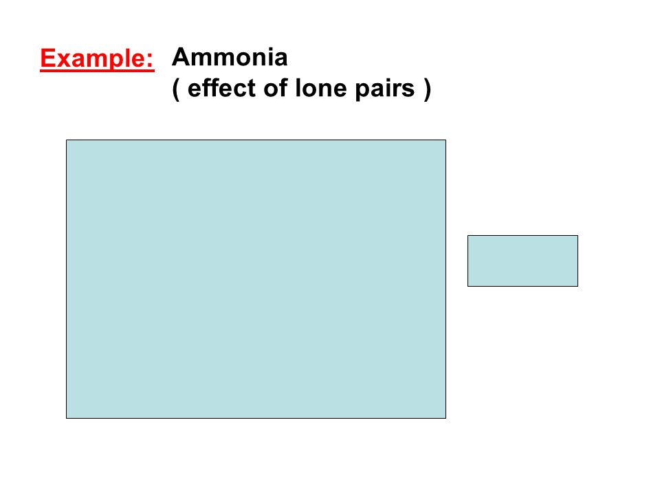 Ammonia ( effect of lone pairs )