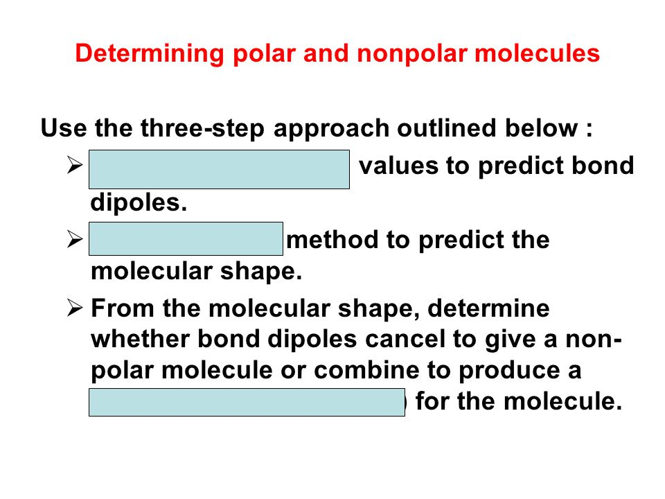 Determining polar and nonpolar molecules