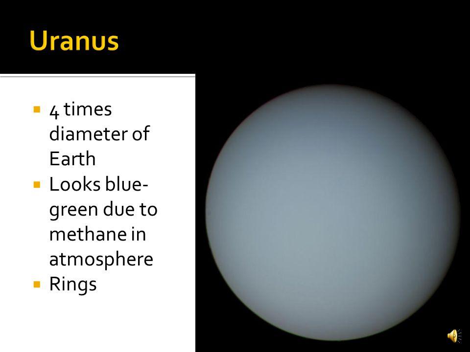 Uranus 4 times diameter of Earth