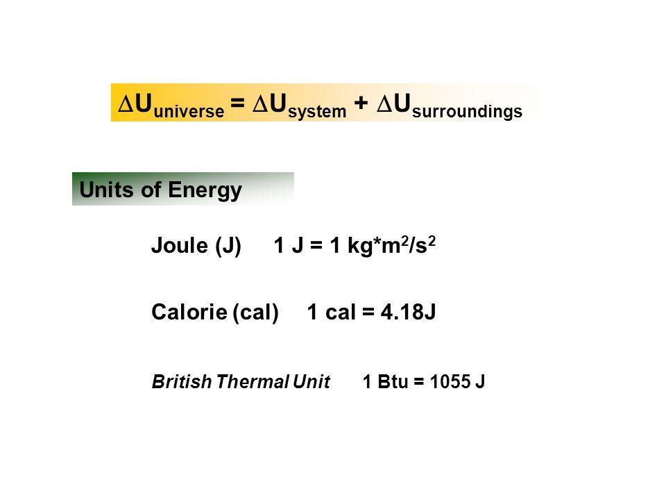DUuniverse = DUsystem + DUsurroundings