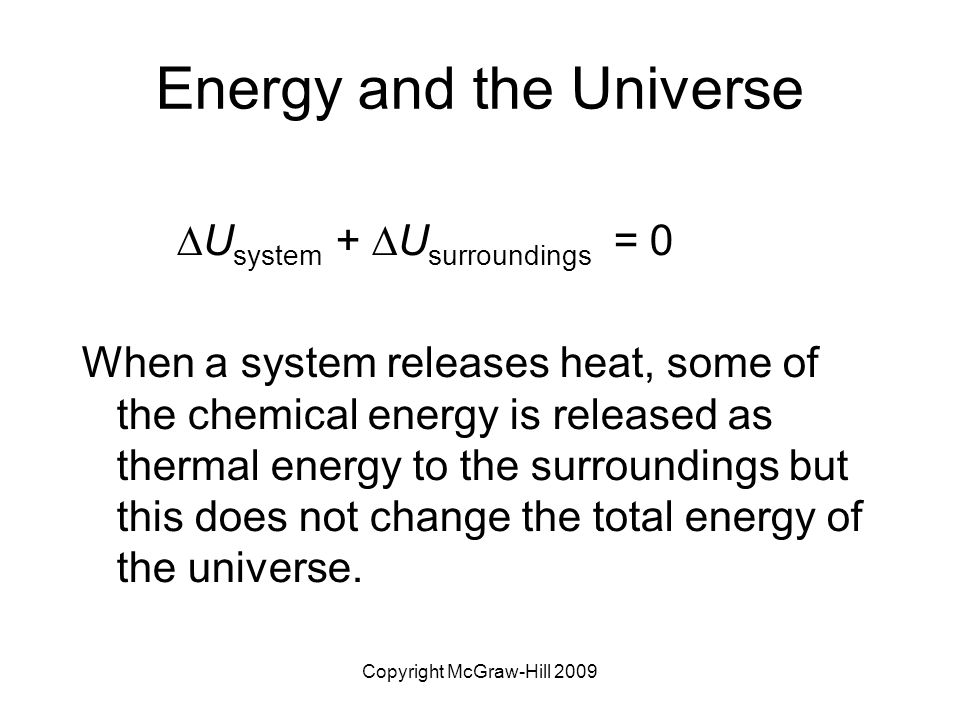 Energy and the Universe