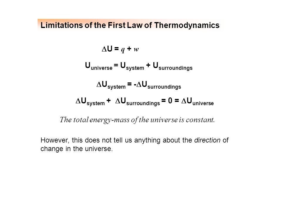 Limitations of the First Law of Thermodynamics