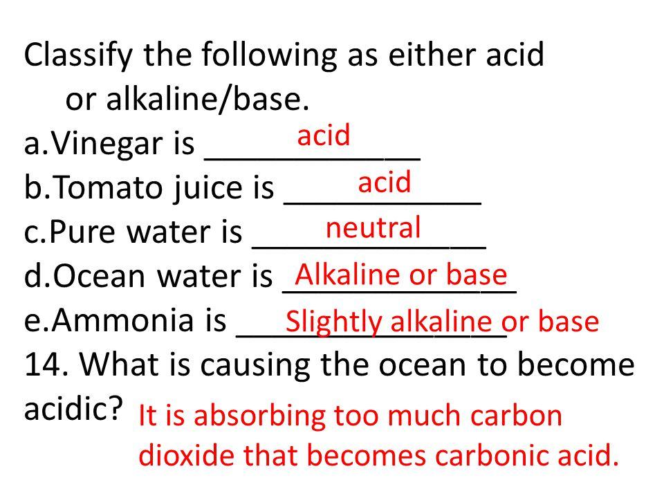 Slightly alkaline or base