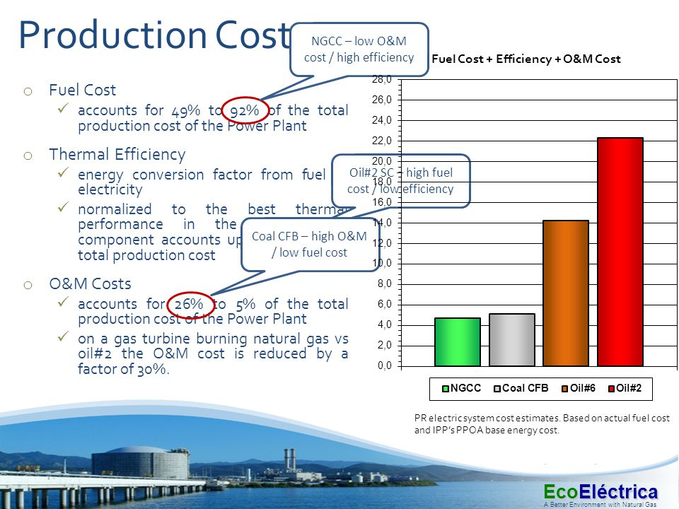 Production Costs Fuel Cost Thermal Efficiency O&M Costs