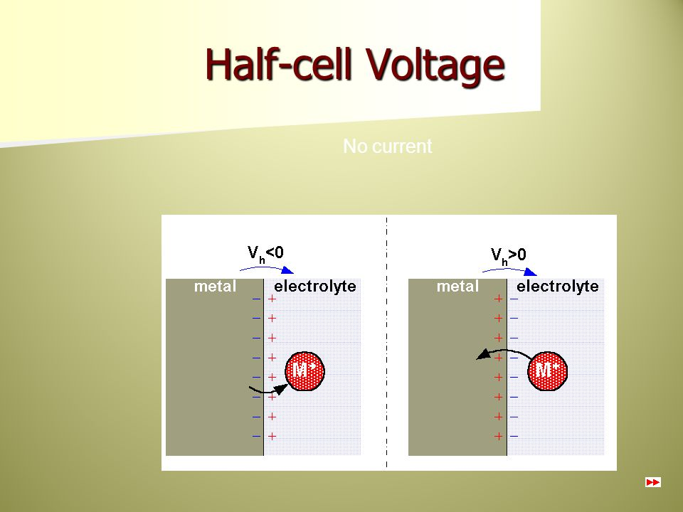 Half-cell Voltage No current