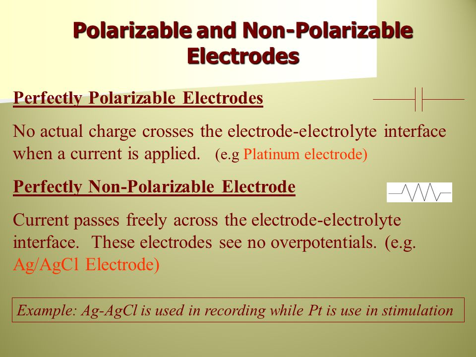 Polarizable and Non-Polarizable Electrodes