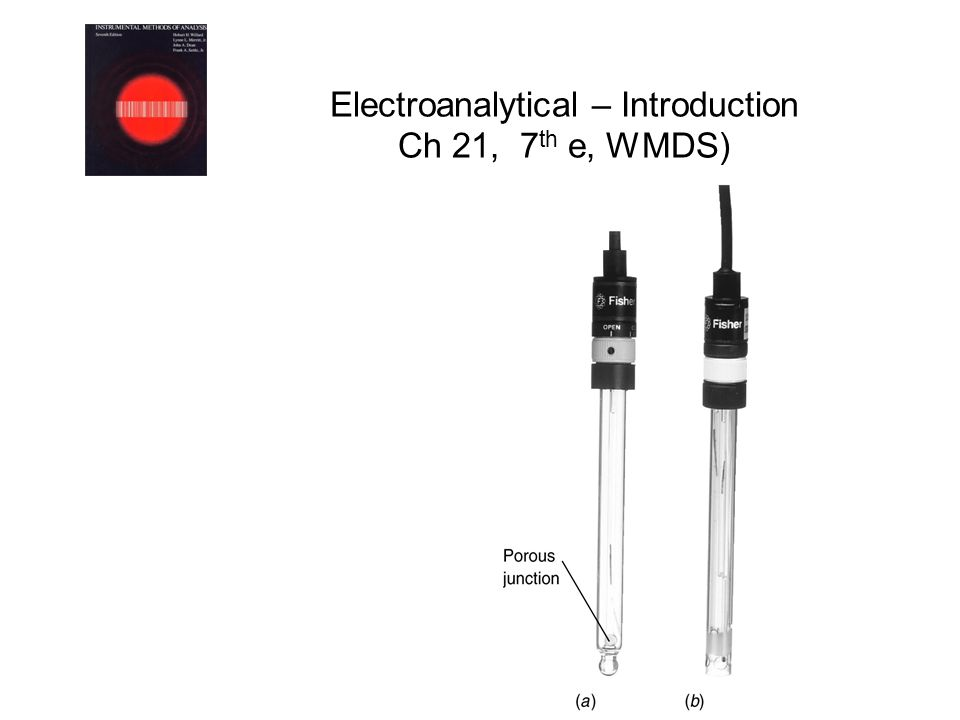 Electroanalytical – Introduction Ch 21, 7th e, WMDS)