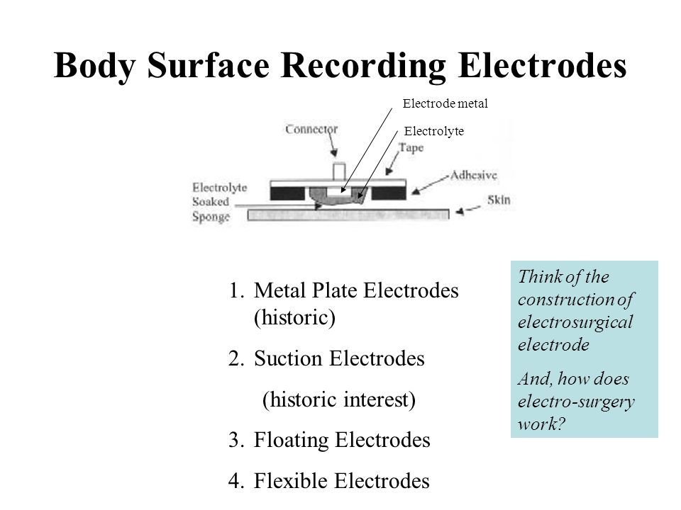 Body Surface Recording Electrodes