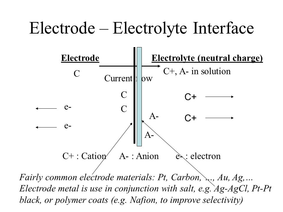 Electrode – Electrolyte Interface