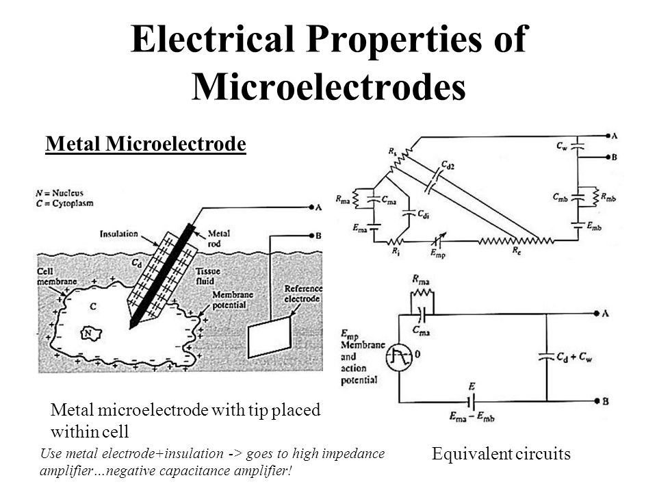 Electrical Properties of Microelectrodes