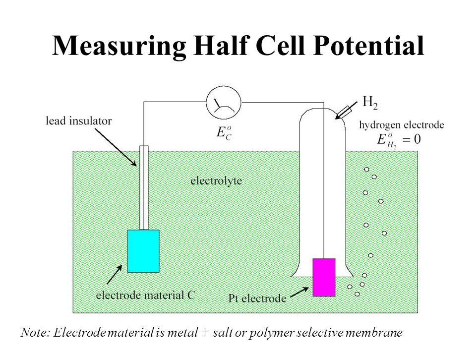 Measuring Half Cell Potential