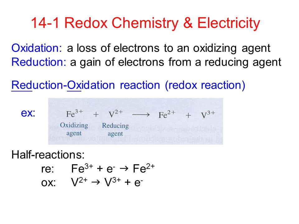 14-1 Redox Chemistry & Electricity