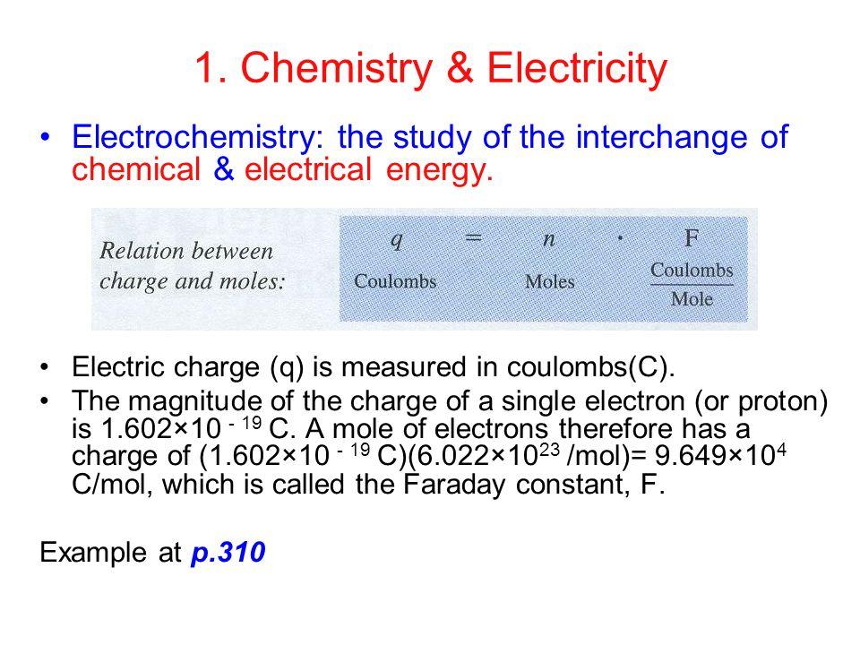 1. Chemistry & Electricity
