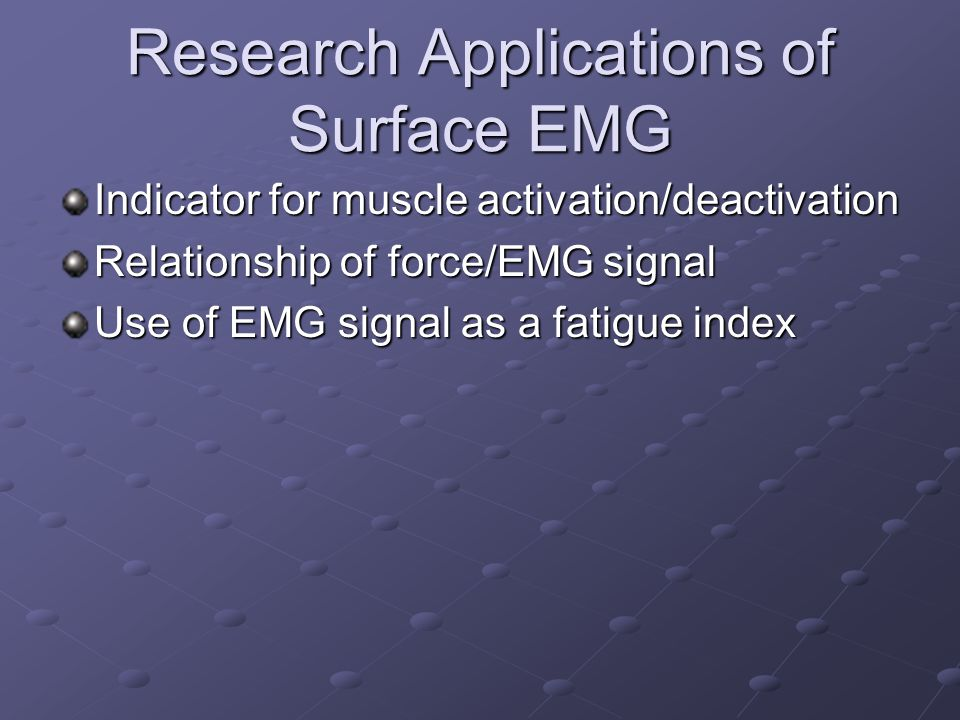 Research Applications of Surface EMG