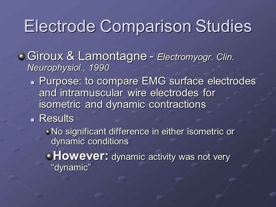 Electrode Comparison Studies
